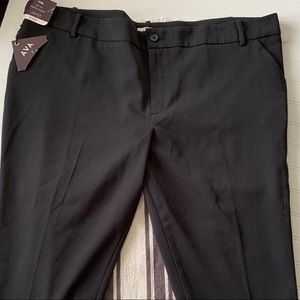 Ava & Viv black crop pants size 24 NWT